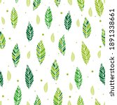 vector illustration of leaves... | Shutterstock .eps vector #1891338661