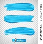 vector realistic blue paint...   Shutterstock .eps vector #1891344481