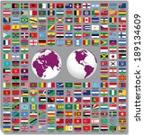 flags of the world 2014  | Shutterstock .eps vector #189134609