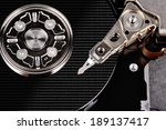 closeup view of hdd with data... | Shutterstock . vector #189137417