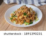 stir fried rice noodles with... | Shutterstock . vector #1891390231