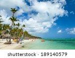 luxury resort beach in punta... | Shutterstock . vector #189140579