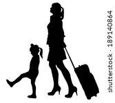 vector silhouette of family on...   Shutterstock .eps vector #189140864