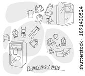 clothes donation in special...   Shutterstock .eps vector #1891430524