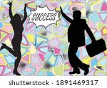silhouettes people  conceptual.... | Shutterstock .eps vector #1891469317