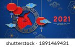 chinese new year of the ox 2021 ...   Shutterstock .eps vector #1891469431
