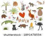 australian animals and flora.... | Shutterstock .eps vector #1891478554