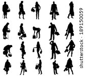 vector silhouette of a people... | Shutterstock .eps vector #189150059