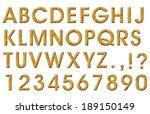 wooden alphabet | Shutterstock . vector #189150149