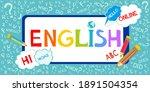 learning english. online...   Shutterstock . vector #1891504354