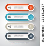 4 step process chart for... | Shutterstock .eps vector #1891512697