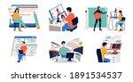 game development. cartoon... | Shutterstock .eps vector #1891534537