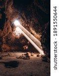 Lava Tube Cave In Mojave Desert