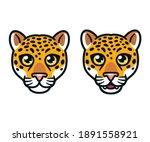 cartoon jaguar or leopard head... | Shutterstock .eps vector #1891558921