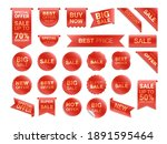 vector red labels isolated on... | Shutterstock .eps vector #1891595464