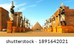 Avenue Of Egyptian Pharaohs 3d...