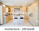 modern kitchen design with high ... | Shutterstock . vector #18916648