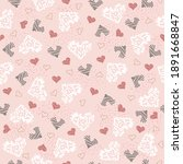 seamless pattern with cartoon... | Shutterstock .eps vector #1891668847