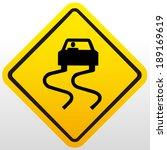 slippery road sign | Shutterstock .eps vector #189169619