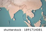 continental map of south asia.... | Shutterstock . vector #1891714081
