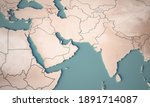 continental map of middle east. ... | Shutterstock . vector #1891714087