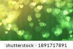 Light Heart Green Bokeh...