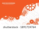 abstract gear wheel pattern on... | Shutterstock .eps vector #1891724764