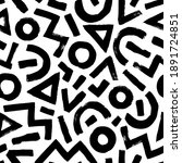 geometric pattern memphis style ... | Shutterstock .eps vector #1891724851