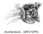 Pencil Drawing Of Old Artiller...