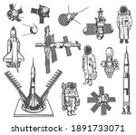space exploration vector icons... | Shutterstock .eps vector #1891733071