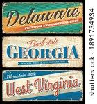 american states  delaware ... | Shutterstock .eps vector #1891734934