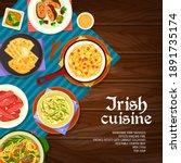 Irish Cuisine Vector Mashed...