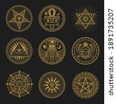 occult signs  occultism ... | Shutterstock .eps vector #1891735207