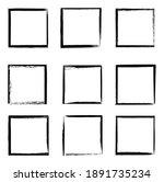 grunge frames vector set  black ... | Shutterstock .eps vector #1891735234
