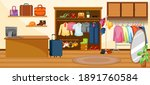 fashion clothes store... | Shutterstock .eps vector #1891760584