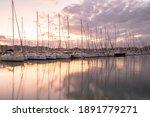 Sailboats View  In The Marina...