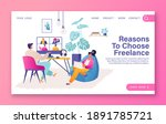 template for landing page  web... | Shutterstock .eps vector #1891785721