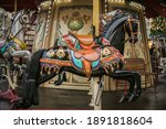 Colorful Carousel Horse On A...