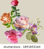 Beautiful Flower Bunch Digital...