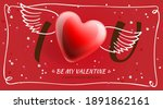 valentine's day poster. i love... | Shutterstock .eps vector #1891862161