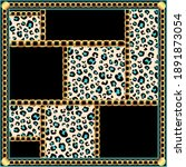 elegant baroque square scarf... | Shutterstock .eps vector #1891873054