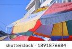 A Colored Umbrellas For Shade