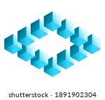 impossible shape. penrose... | Shutterstock .eps vector #1891902304