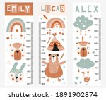 kids height chart with woodland ...   Shutterstock .eps vector #1891902874