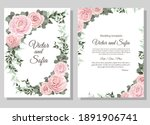 vector floral template for... | Shutterstock .eps vector #1891906741