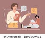 online psychological supports... | Shutterstock .eps vector #1891909411