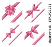 decorative pink bow with... | Shutterstock .eps vector #1891921231