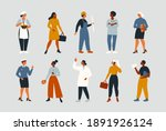 collection of women people... | Shutterstock .eps vector #1891926124