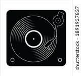 turntable and vinyl record disc ... | Shutterstock . vector #1891927837