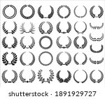 collection of different black... | Shutterstock . vector #1891929727